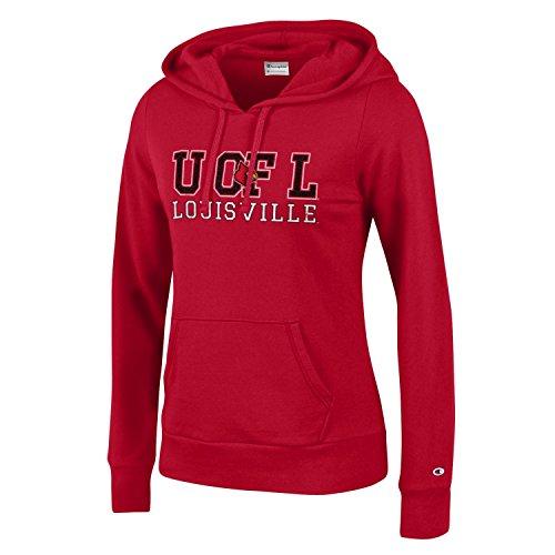 NCAA Louisville Cardinals Women's Champion University Fleece Hoodie, Medium, Scarlet