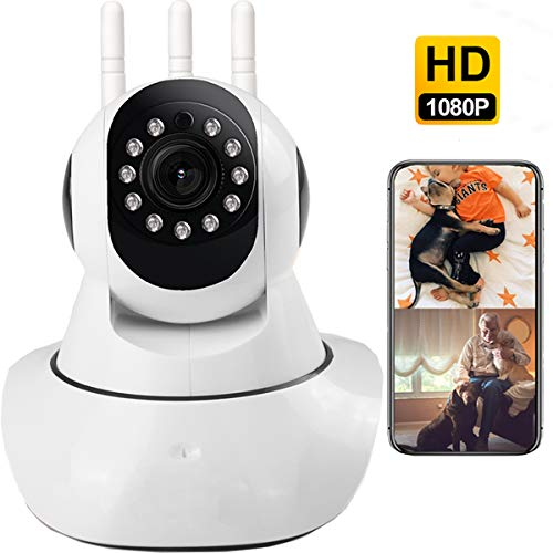 Security WiFi Camera, 1080p WiFi Camera, Indoor Home Camera Support iOS/Android App, WiFi Pet Camera with Night Vision Two Way Audio, Home Surveillance for Baby/Pet/Elder, IP Cameras, Activity Alert