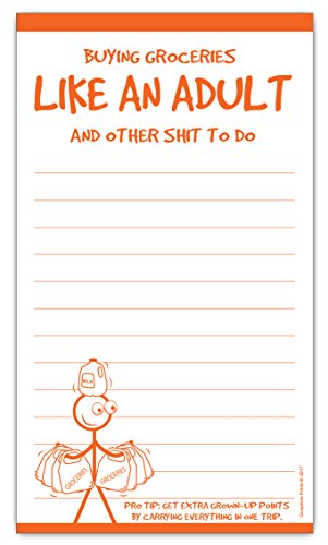 Grocery List Magnet Pad - Buying Groceries Like an Adult Funny Gift]()