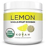 KOYAH - Organic USA Grown Lemon Powder (1 Scoop = 1 Lemon Wedge): 70 Servings, Whole-Fruit Powder, Raw, 100% Freeze-Dried