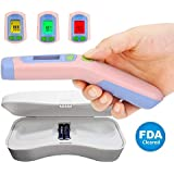 Amplim CE FDA Approved Medical, Hospital Grade Non Contact Infrared Forehead Thermometer + Case. Best New Baby/Kids/Infant/Toddler/Child/Adult/Professional/Clinical Digital No Touch Fever Thermometer