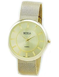 Women's Gold-Tone Mesh Bracelet Watch-Large Face