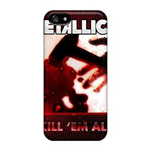 Shock-Absorbing Hard Cell-phone Case For Iphone 5/5s (eLe10376bMCw) Provide Private Custom Colorful Metallica Pattern