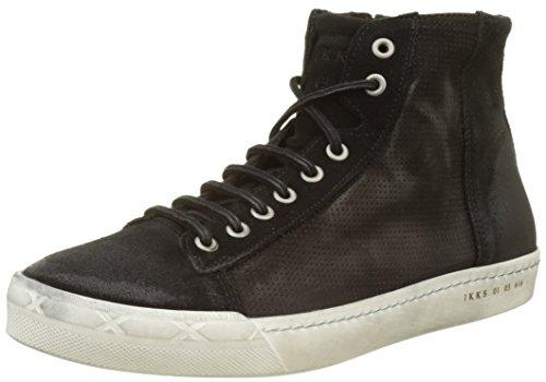 IKKS Sneakers, Sneaker a Collo Alto Uomo Nero (Noir)