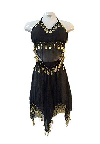 [Belly Dancer Costume Arabian Harem Princess Women Adult Standard Size Gold Coins] (Arabian Woman Costumes)
