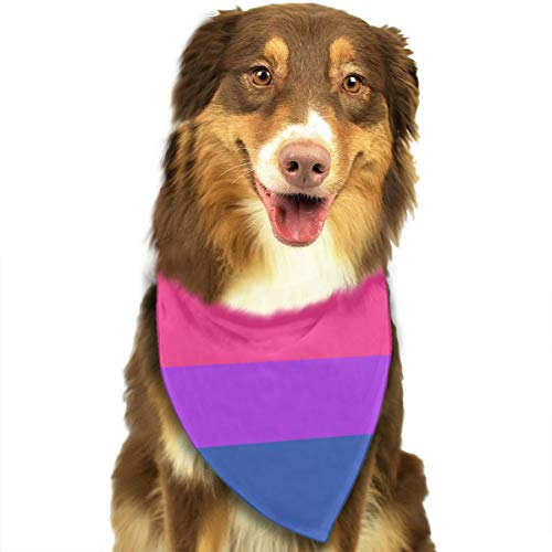 Plaid Pride Cap - NOWDIDA Bandana-Washable and Adjustable Pet Triangle Scarf Bibs Bisexual Pride Flag Accessories for Small Medium Large Dogs/Cats