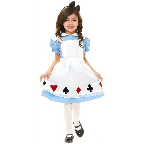 Charades Toddler Girl's Child's Storybook Alice Costume Childrens Costume, Multi/Color, Toddler]()