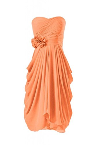 Length BM332 Chiffon Party Bridesmaid Knee 22 DaisyFormals Gown Dress orange Sweetheart pCw5q7xZT