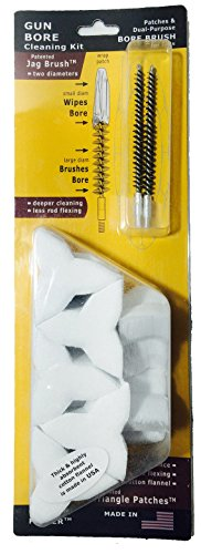 Cleaner Faster Kits, Cal 25, 6.5, Patented Nylon Bore Brushes and Patches, by BoreSmith by BoreSmith