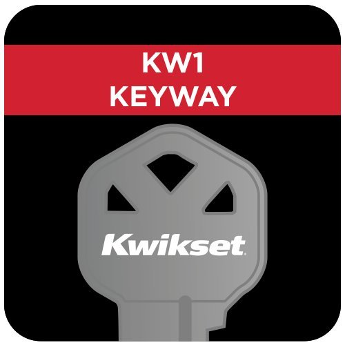 new Kwikset Tustin Single Cylinder Handleset w/Tustin Lever featuring SmartKey in Satin Nickel
