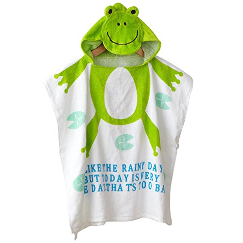 [CUTE Baby Hooded Towel,STAR-TOP 100% Organic Cotton,Soft,Children's Cartoon Bathrobe for Baby Gifts] (Princess Leia White Robe)