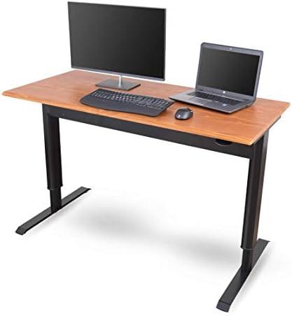 Stand Up Desk Store Pneumatic Adjustable Height Standing Desk Computer Workstation Black Frame/Teak Top Review
