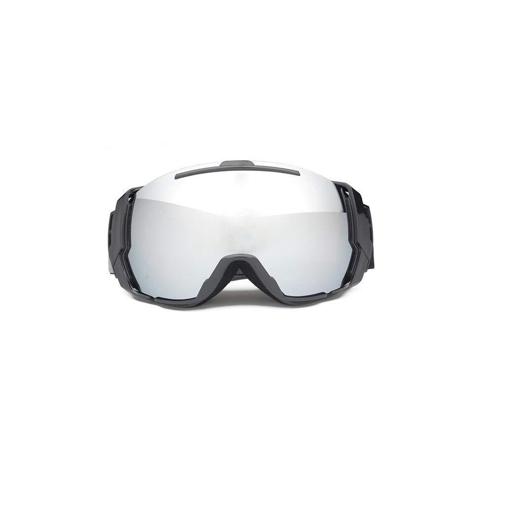 YXLZZO Skibrille Professionelle Skibrille doppelte Anti-Fog-Linsen große sphärische Skianblickbrille Brille Kokain Myopie Masque de ski (Farbe : D)
