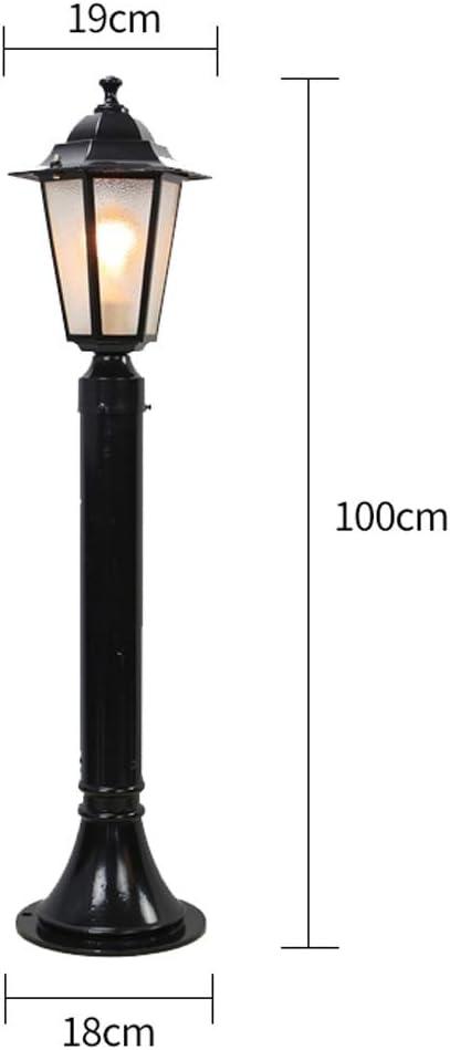AXWT Modeen European Outdoor Glas Laterne S/äule Leuchte for Rasenplatz Dicker Wasserdicht Rostschutz Garten Beleuchtung Stehlampe Stra/ße Post Light In Modern Style for Haust/ür Rasen-Lampe