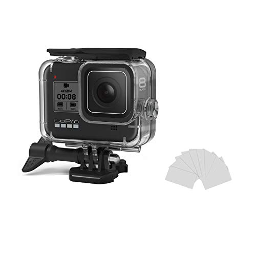 Kitspeed Waterproof Case for GoPro Hero 8 Accessories Housing Case Diving Protective Housing Shell 60M for Go Pro Hero 8 Action Camera with Bracket Accessory