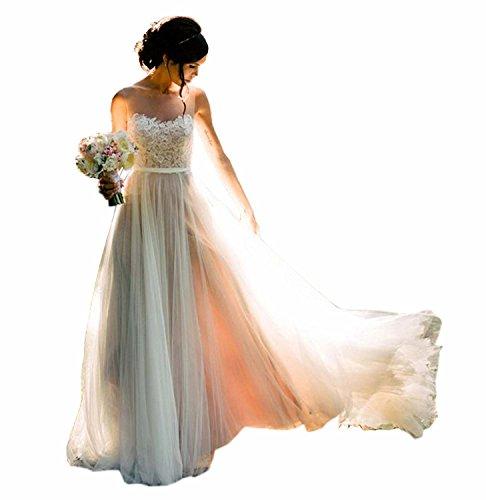 Special Bridal - Vestido de novia - Sin mangas - Mujer Stil5 Elfenbein