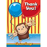 Curious George Thank You Cards, 8ct