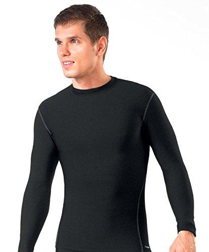 gWINNER ® Herren warme Funktionsunterwäsche / Thermo Skiunterwäsche - Langarm Shirt - SILVERPLUS® ANATOMY - Thermo LINE