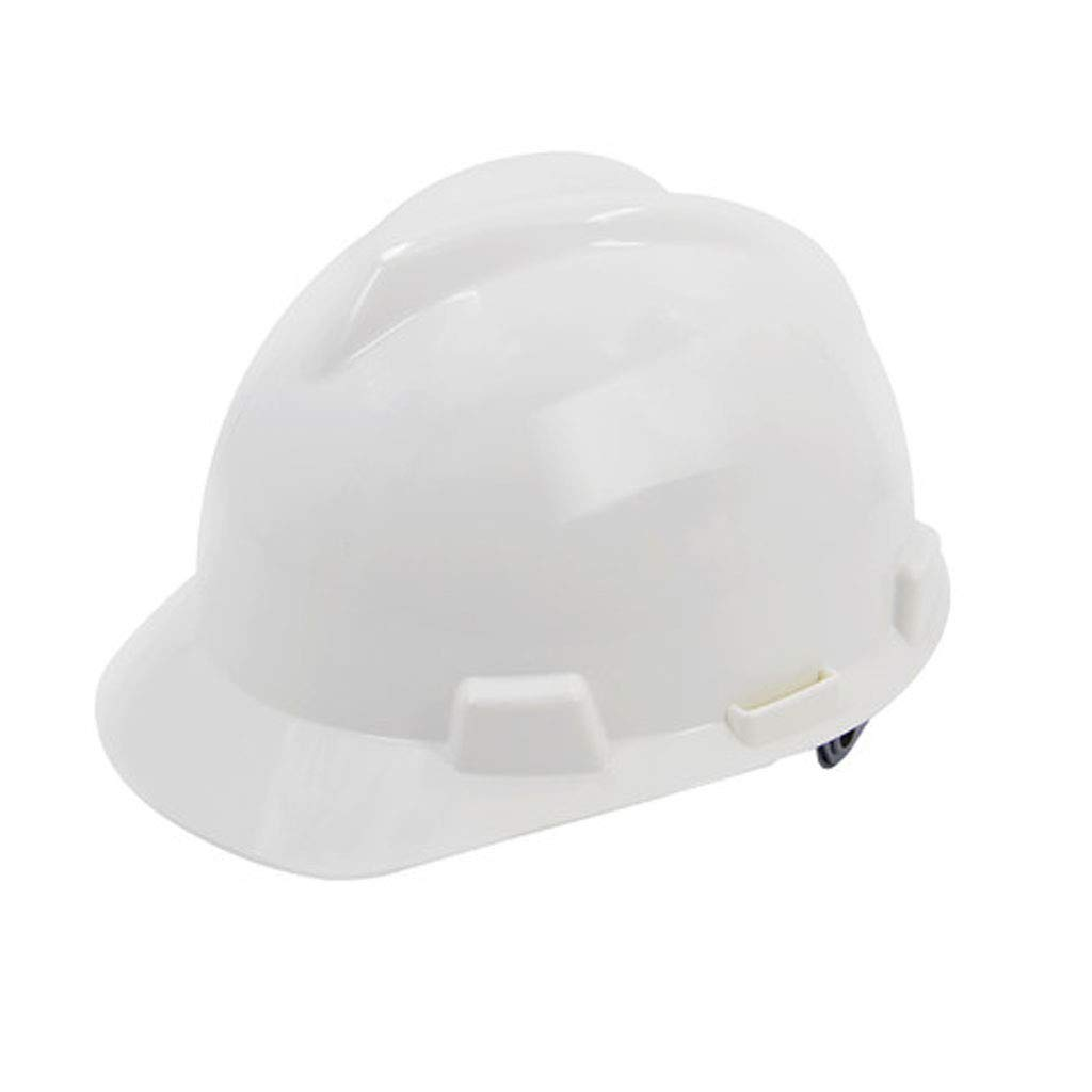 FEI JI Hard Hats - Construction Site Anti-collision ABS High Strength/High Temperature/Breathable Adjustable Protective Helmet - Head Protection Equipment, Safety Accessories (Color : White)