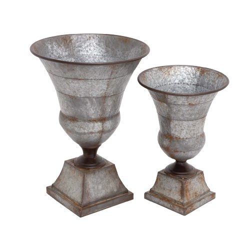 Deco 79 Metal Urn, 23 by 19-Inch, Set of 2