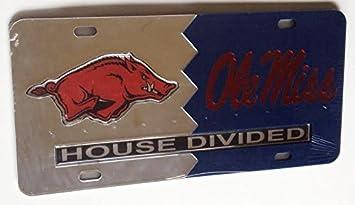 Arkansas Razorbacks Ole Miss Rebels House Divided