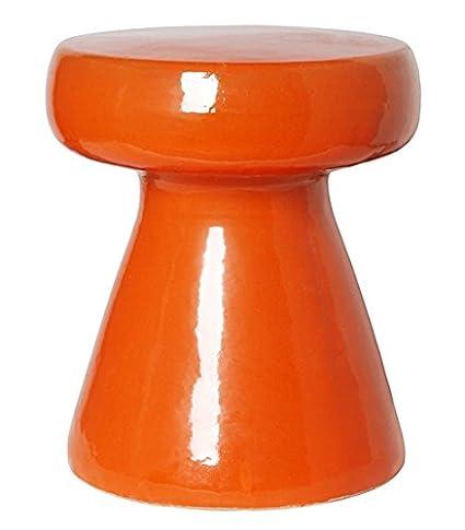 Etonnant Mushroom Garden Stool   Orange