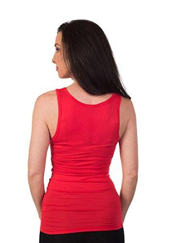 Soft Women's U-Style Tank Top Rojo