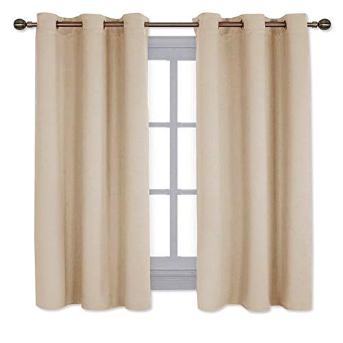 - NICETOWN Thermal Insulated Grommet Room Darkening Curtains/Draperies/Panels for Bedroom (2 Panels, W42 x L63 -Inch, Biscotti Beige)