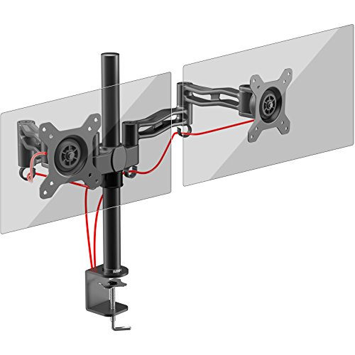 Duronic DM352 /BK Dual PC Monitor Arm Stand Desk Mount Screen Bracket Clamp...