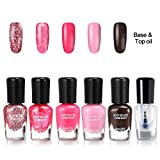 Skymore 6pcs Nail Polish Set, Water-Based Peel-Off Gel Nail Lacquer Kit Beauty Gloss Non-toxic Nail Care Art Set For Women Lady Girls 706