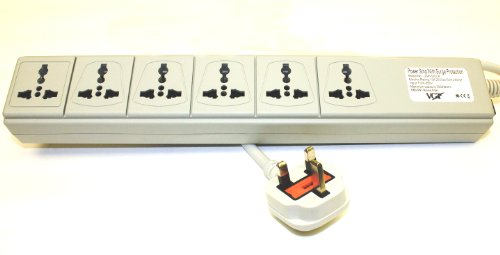 VCT Electronics UP600UK Universal Power Strip 6-Outlets