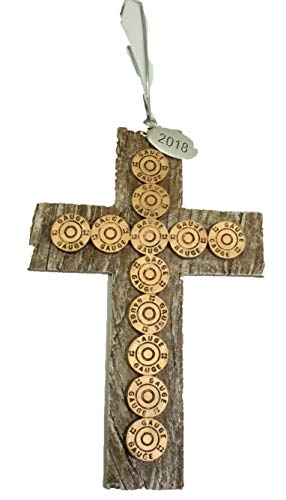 Twisted Anchor Trading Co Western Cross Ornament - Western Christmas Ornaments, Bullet Christmas Ornament 2018 with Gift Box