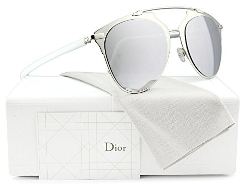 08a609c60eee Image Unavailable. Image not available for. Colour  Christian Dior Reflected  S Sunglasses Palladium White w Silver Mirror (085L) 85L