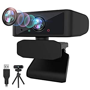 2021 Upgraded 1080p HD Webcam with Microphone Zoom Webcam for Home Working Video Conference with Face Beauty Feature