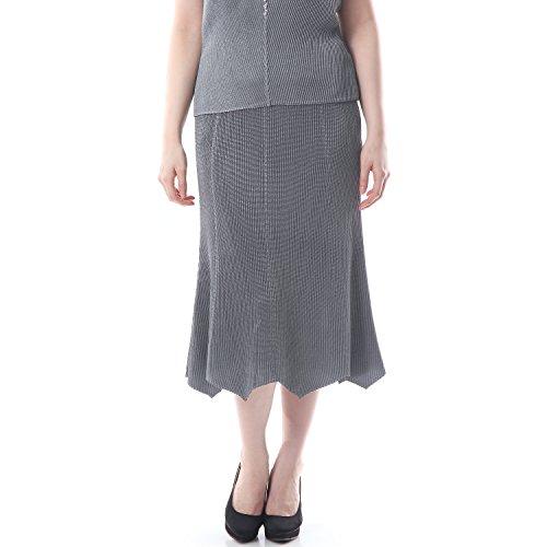SPECCHIO PLEATS Women's Graceful Silhouette 8-Gore Flare Skirt One size Grey