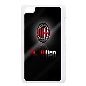 iPod Touch 4 Case White AC Milan Football btcw