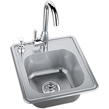 Fire Magic Stainless Steel 15x15 Sink With Faucet - - Amazon.com