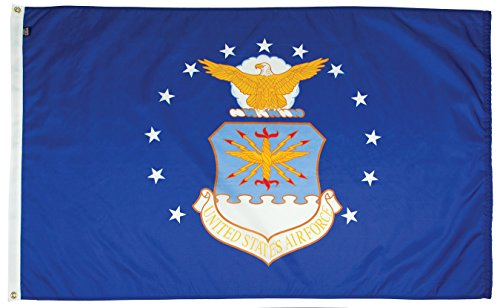 FlagSource U.S. Air Force Nylon Military Flag, Made in The USA, 3x5' ()