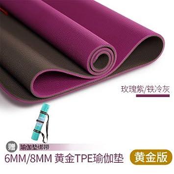YOOMAT Oro TPE Yoga Mat 6 / 8mm Principiante Verde ...