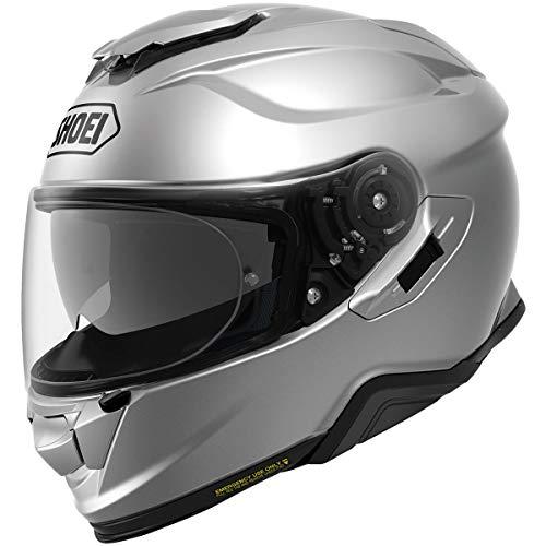 (Shoei GT-Air 2 Solid Street Motorcycle Helmet - Light Silver/Large)