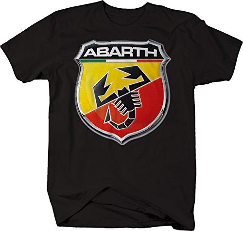 Moon Inc Abarth Scorpion Shield Racing Logo Tshirt - XLarge (Vw Logo Tshirt)