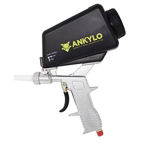 Gravity Sandblaster Gun - Durable Metal - Handheld and Portable with bonus Spot Blasting Kit - Remove Rust & Paint, Clean Tools & Parts, Create Art by ANKYLO Tools