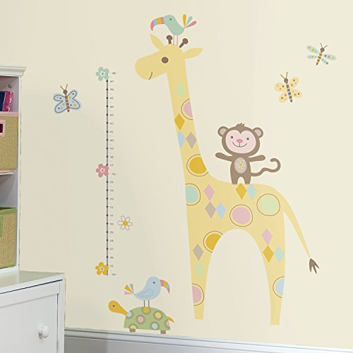 RoomMates Tribal Baby Animal Growth Chart Peel And Stick Wall Decals