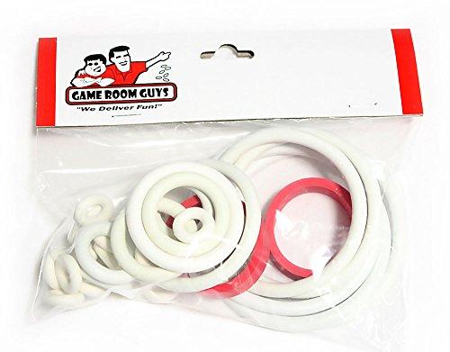 Pinball Rubber Ring - Game Room Guys Bally Supersonic Pinball White Rubber Ring Kit