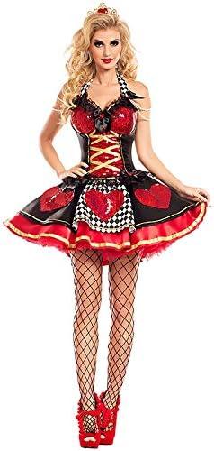 QAQBDBCKL Disfraz de Mujer Sexy Reina de Corazones Disfraz de ...