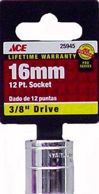 UPC 082901259459, Ace 3/8 Drive Metric 12 Point Socket (25945)