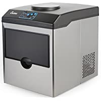 Ensue Ice Cube Maker Machine, Stainless Steel Counter Top, Portable w/ Water Dispenser