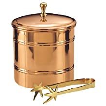 Old Dutch 3-Quart Ice Bucket with Brass Tongs
