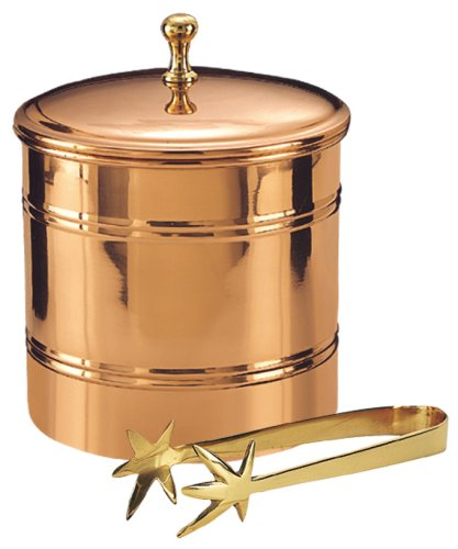 Old Dutch 3-Quart  Ice Bucket with Brass Tongs -
