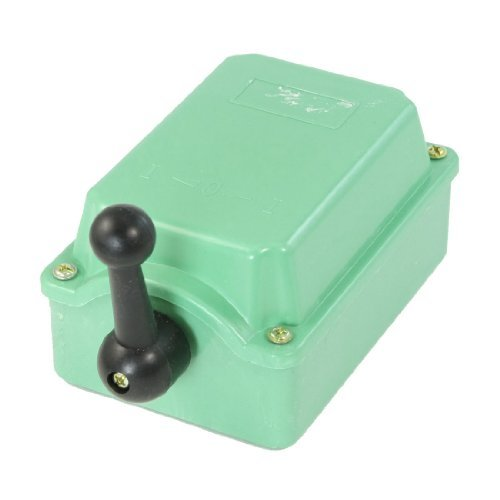 Plastic Housing Toggle Switch (DealMux Green Plastic Housing Changeover Switch Cam Starter QS-30 AC 30A 380V)